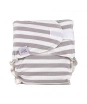 EH Newbie grey stripes - novorozenecká látková plena