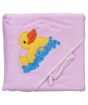 Scarlett Froté ručník - Scarlett kačenka s kapucí - růžová