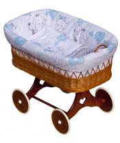 Scarlett Proutěný košík na miminko Scarlett Gusto - modrá