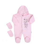 Fleecový overal New Baby Kamarádi růžový