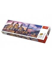 Puzzle Piazza Navona, Řím panorama 500 dílků 66x23,7cm v krabici 40x13x4cm