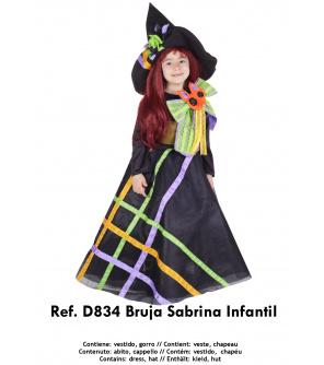 Nines Kostým Bruja malá čarodějnice  vel. 3-5 let