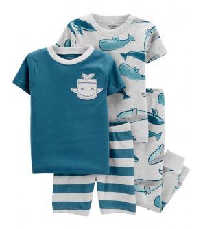 CARTER'S Pyžamo dlouhé a krátké kalhoty, krátký rukáv 2ks Whale chlapec 24m