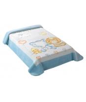 Scarlett Španělská deka 547 - modrá, 80 x 110 cm