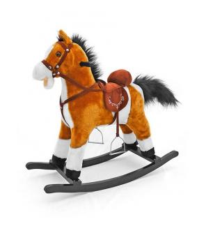 Houpací koník s melodií Milly Mally Mustang světle hnědý
