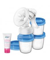 Philips AVENT Odsávačka mateřského mléka Natural s VIA systémem + Krém na bradavky 30 ml