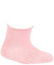 WOLA Ponožky kojenecké bambusové jednobarevné neutral Pink 12-15