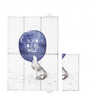 CEBA Podložka přebalovací cestovní 60x40cm Watercolor World Born to be wild