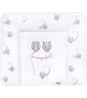 Přebalovací podložka měkká New Baby Emotions bílá 85x70cm