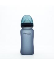 Everyday Baby Láhev sklo, senzor, 240ml,blueberry