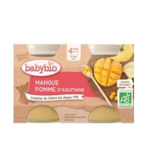 BABYBIO Příkrm jablko mango (2x 130 g)