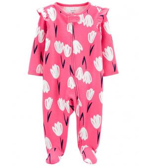 CARTER'S Overal zip oboustranný Pink Flora dívka 3m
