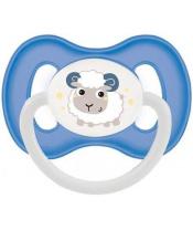 Dudlík kaučukový třešinka 0-6m Bunny & Company - modrá