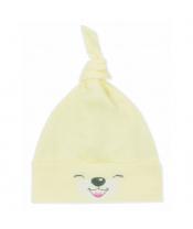 Bavlněná kojenecká čepička Bobas Fashion Lucky žlutá