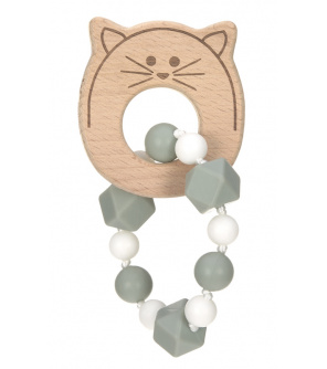 Lässig 4babies Teether Bracelet Wood/Silicone Little Chums