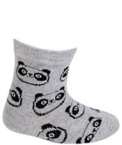 WOLA Ponožky kojenecké bavlněné neutral Panda Grey 15-17
