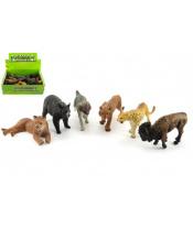 Zvířátka safari ZOO plast 10cm mix druhů 24ks v boxu