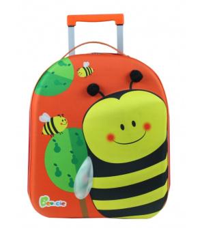 """Bayer Chic Látkový kufřík s kolečky """"včelka"""""""