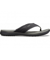 CROCS Santa Cruz Canvas Flip M Black/  Slate Grey M9  DOPRODEJ