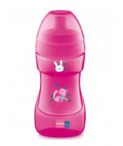 MAM Hrnek Sports cup 330 ml, 12+ m růžový - růžový pejsek