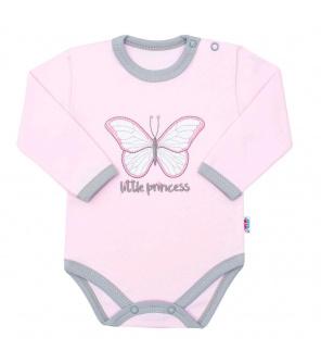 Kojenecké bavlněné body s dlouhým rukávem New Baby Little Princess