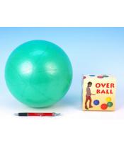 Míč Overball nafukovací rehabilitační 26cm max. zatížení 120kg v krabici 10x11cm