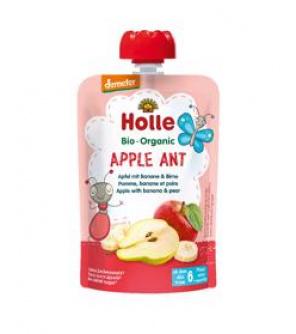 HOLLE Apple Ant Bio pyré jablko banán hruška 100 g (6+)