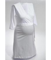Košile noční NIKA INTIMA 038 stříbrno-bíla S