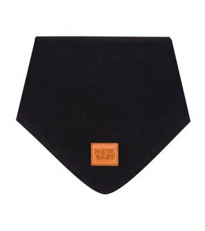 Kojenecký bavlněný šátek na krk New Baby Favorite černý S