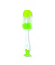 BABYONO Kartáč na čištění lahví a saviček 2v1 s přísavkou zelený