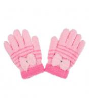 Dětské zimní froté rukavičky New Baby světle růžové