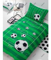 Matějovský povlečení FOTBAL, zelené, bavlna hladká, 140x200cm + 70x90cm