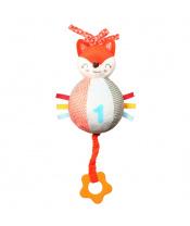 Plyšová hračka s hracím strojkem a kousátkem Baby Fox Vincent