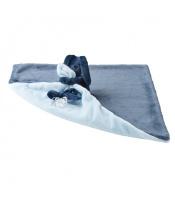 Deka plyšová s mazlíčkem LAPIDOU navy blue-light blue 48cm x 48cm