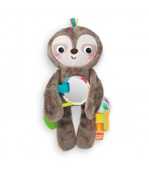 BRIGHT STARTS Hračka plyšová závěsná Slingin 'Sloth Travel Buddy 3m +