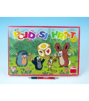 Pojď si hrát Krtek Člověče, nezlob se dětská společenská hra v krabici 33x23x3,5cm