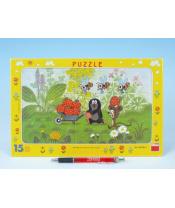 Puzzle deskové Krtek na výletě 29,5x19cm 15 dílků
