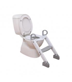 DREAMBABY Stupínek k WC šedo/bílá
