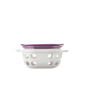 Lifefactory dóza 240ml optic white/huckleberry