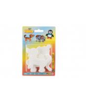 Podložka na zažehlovací korálky Hama slon,tučňák,pejsek plast 3ks na kartě 12x18x3cm