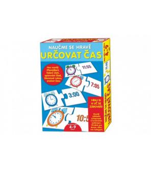 Puzzle deskové Naučme se hravě určovat čas v krabici 20x28x4cm