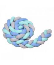T-TOMI Mantinel pletený 180 cm, mint + blue + grey