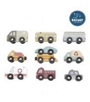 Tiamo Little Dutch Dřevěná autíčka 9 ks