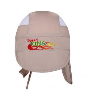 Letní dětská čepička-šátek New Baby Speed King béžová