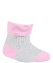 WOLA Ponožky kojenecké bavlněné neutral Pink pearl 18-20