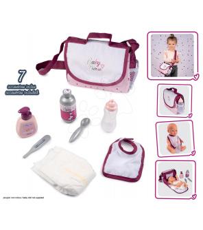 Smoby Přebalovací taška s plenkou Violette Baby Nurse  se 7 doplňky s nastavitelným popruhem