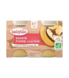BABYBIO Příkrm jablko banán (2x 130 g)