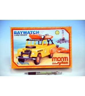 Stavebnice Monti 48 Baywatch Land Rover v krabici 22x15x6cm