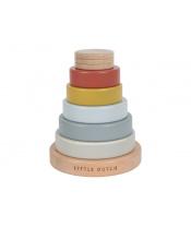Tiamo Little Dutch Dřevěné nasazovací kroužky - Pyramida NEW