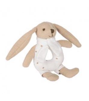 CANPOL BABIES Zajíček Bunny s chrastítkem béžový